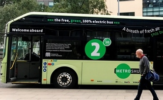 Manchester debuts its first electric bus